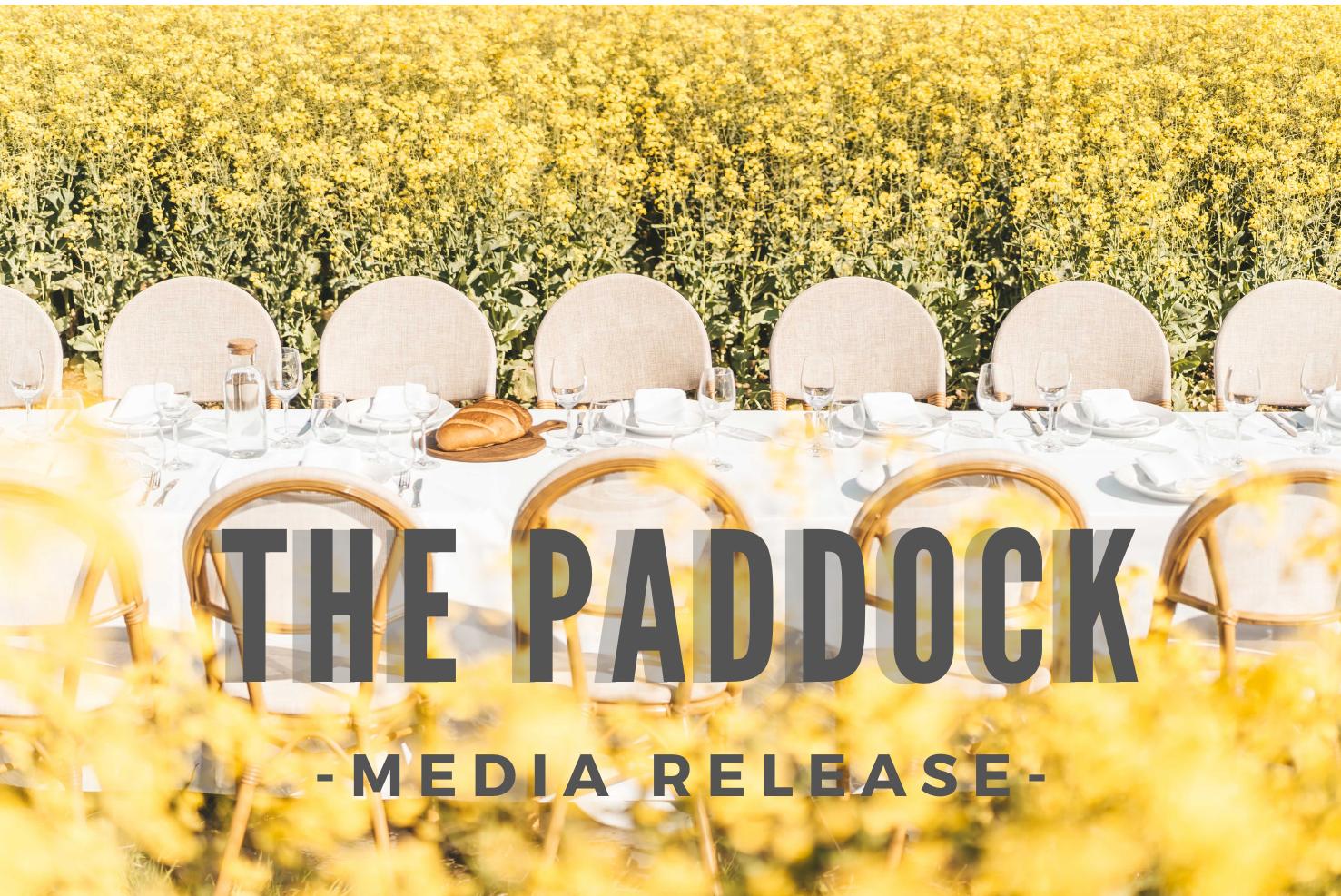 PADDOCK MEDIA RELEASE